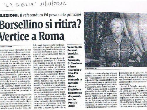 La Sicilia del 11/01/2012: Elezioni Palermo