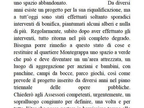 Comunicato Stampa: Spazio abbandonato Largo Verdinois.