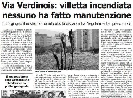 Quotidiano di Sicilia: su Villa Verdinois