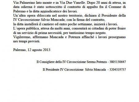Comunicato Stampa: Inizio lavori fognatura via Palmerino-Due Vanelle