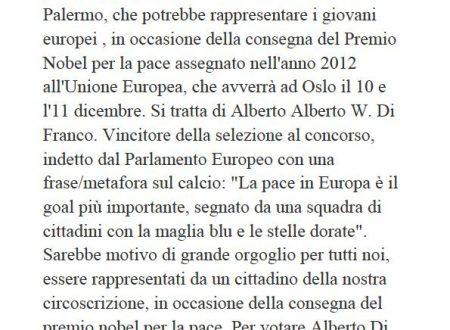 Comunicato Stampa: Sostegno Alberto Di Franco