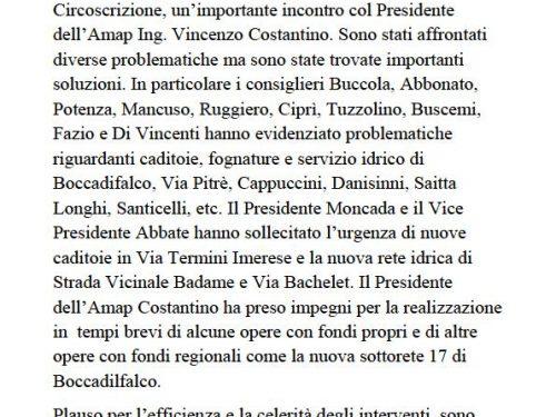 Comunicato Stampa: Consiglio Straordinario col Presidente dell'Amap