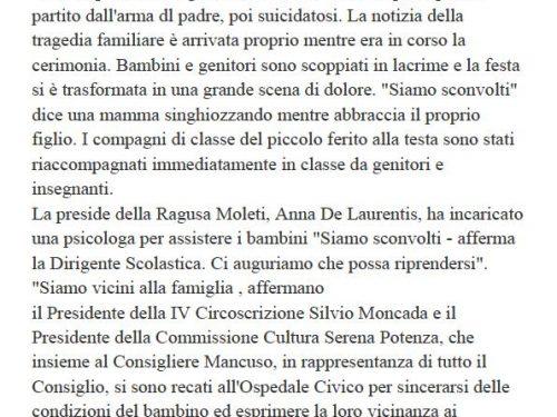 Comunicato Stampa: Gioia e dolore a Villa Napoli