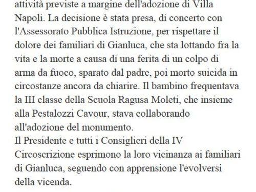 Comunicato Stampa: Sospese attività Villa Napoli