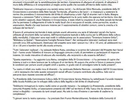 """Comunicato Stampa: """"Piazze aperte al mondo"""""""