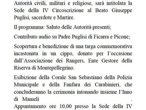 Comunicato Stampa: Intitolazione sede al Beato Puglisi