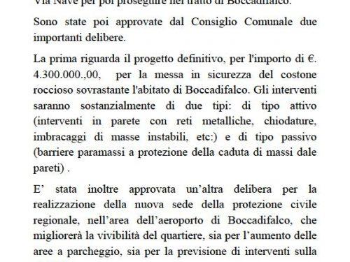 Tre importanti interventi su Boccadifalco