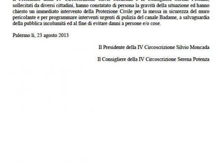Comunicato Stampa: Temporali, danni in via Palmerino-Ponticello Oneto