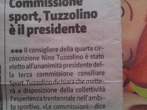 GDS: TUZZOLINO PRESIDENTE COMMISSIONE SPORT