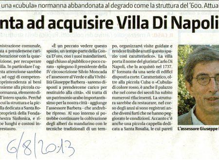 GDS: Comune punta ad acquisire Villa Di Napoli