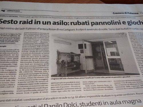 Gds: Sesto raid in un asilo: rubati pannolini e giochi