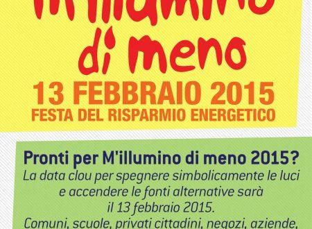 La IV Circoscrizione aderisce all'iniziativa 'M'illumino di meno'