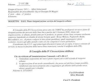 "Soppresse 33 linee Amat, Moncada: ""Basta penalizzare i cittadini"""