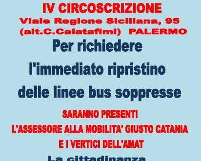 L'assessore Catania e l'Amat incontrano i cittadini, domani il consiglio straordinario alla Quarta Circoscrizione