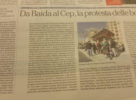 Su Repubblica di oggi in edicola!!! I disagi vissuti da cittadini e studenti della Quarta Circoscrizione