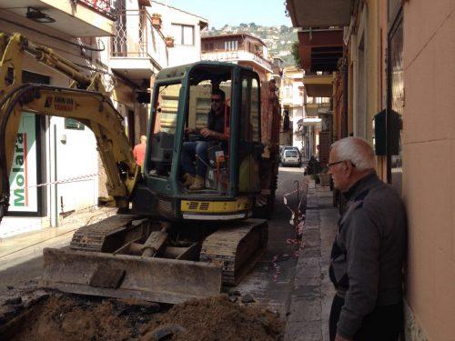 """Lavori in via Molara, Moncada: """"Niente più disagi per i cittadini"""""""