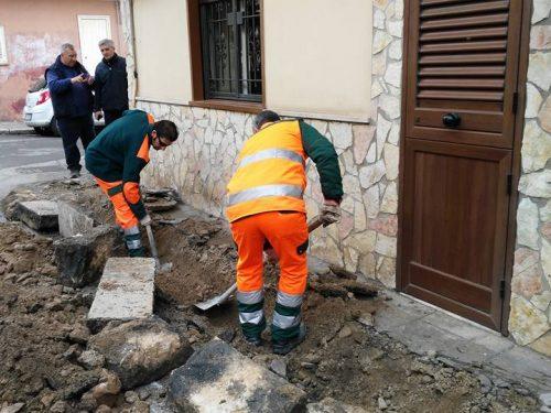 Lavori di manutenzione dei marciapiedi in via Molara